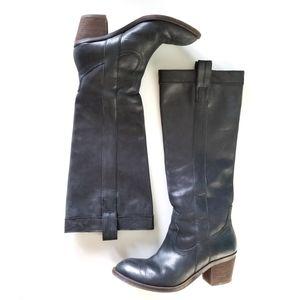 Guess Black Leather Cowboy Boots sz 6
